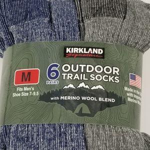 Men's Kirkland Signature Outdoor Trail Socks NWT
